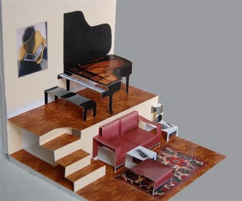 grand piano pop up card template diy living room with grand piano for the pop up paper house