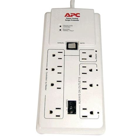 the gallery for gt surge protector apc surgearrest home office p8gt 8 outlets surge suppressor p8gt the home depot