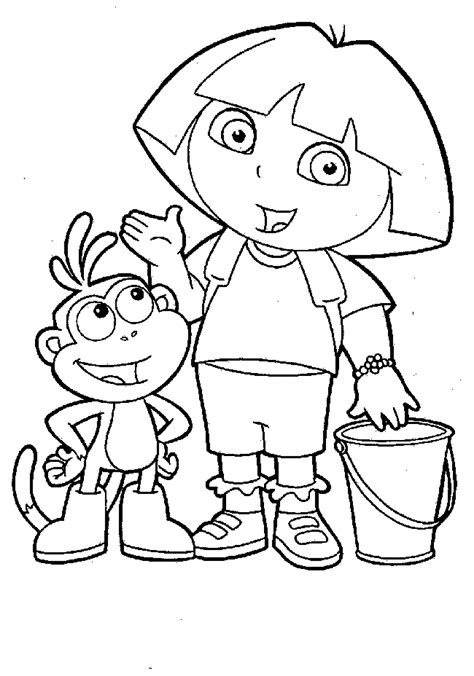 coloring page of dora printable dora coloring pages printable bestappsforkids com