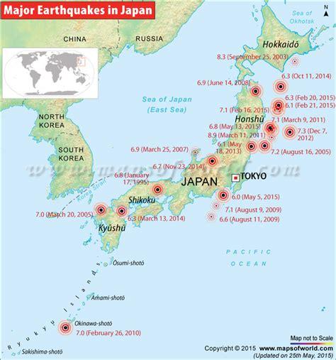 earthquake history map image gallery hokkaido japan earthquake 2016