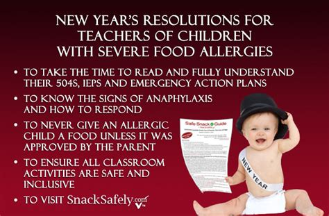new year resolution for teachers classroom snacksafely