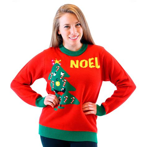 light up ugly christmas sweater the tree isnt the only thing getting lit light up noel sweater uglysweatercompany