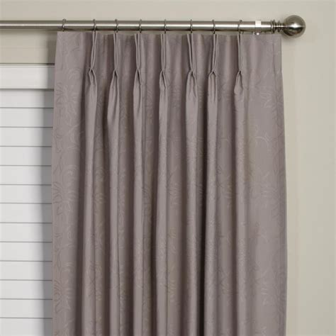pinched drapes black pinch pleat curtains 2 x pinch pleat blackout