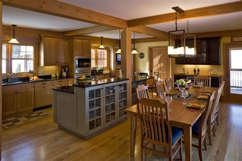 open concept kitchen idea in design i the warmth and the exposed beams for the