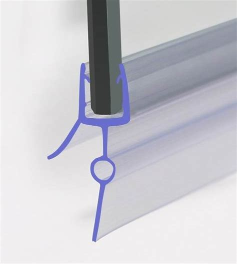 Rubber Seal Shower Door Bath Shower Screen Rubber Plastic Seal For 6 8mm Curved Glass Door Enclosure Ebay
