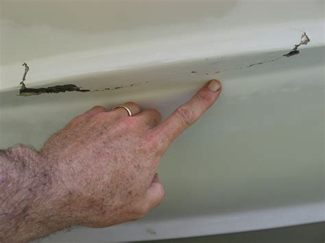 fiberglass boat repair crack hull leaking how to repair the hull truth boating