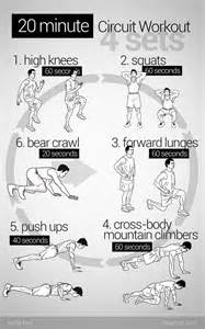 20 minute circuit workout for days where you cant