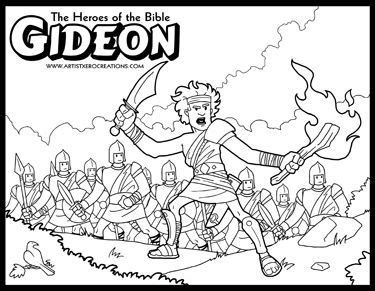 coloring page for gideon the heroes of the bible coloring pages gideon