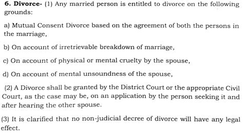 section 10 a of indian divorce act eminent indian citizens give a draft for uniform civil