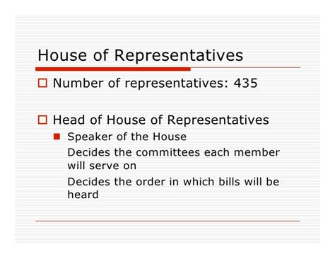 head of the house of representatives congress powerpoint