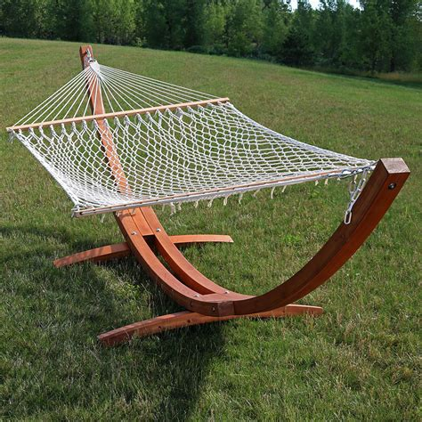wooden hammock stand or hammock stand set curved arc