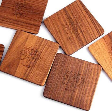 Coffee Cup Mat Coasters walnut wood coaster tea coffee cup mat kitchen table decor
