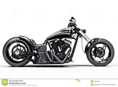 black motorcycle custom black motorcycle stock illustration illustration