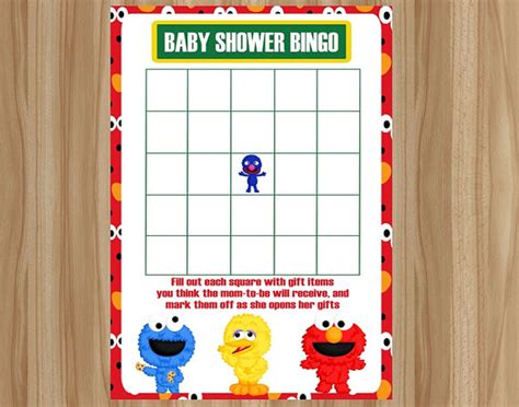 Sesame Baby Shower by Sesame Baby Bingo Sesame Baby By