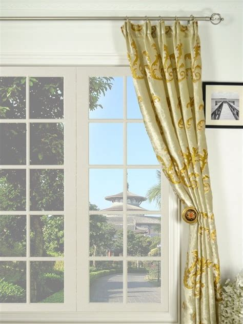 curtains denver mid scale scrolls versatile pleated velvet curtains