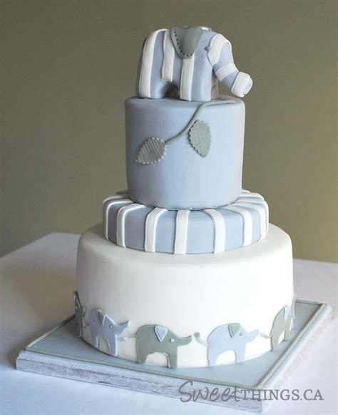 sweetthings elephant inspired baby shower cake