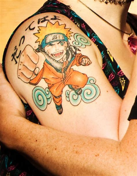 animated tattoo a powerful anime of the animated character
