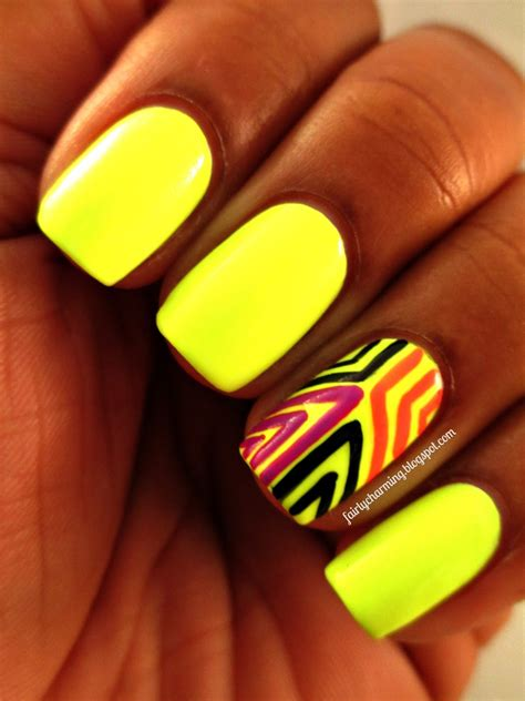 neon color nails intoducing the omega nails summer collection glamore