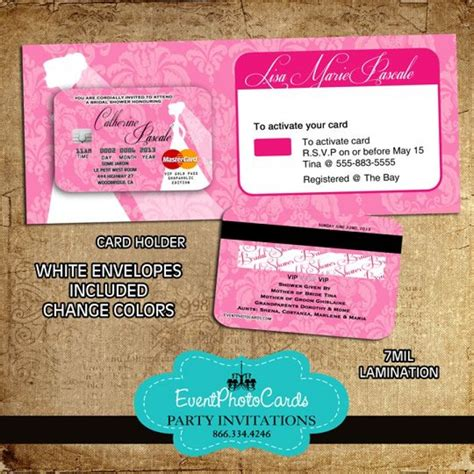 wedding pink credit card with holder