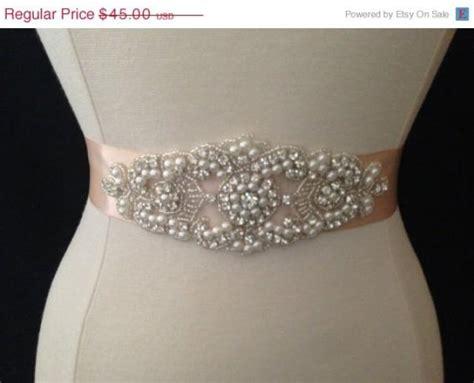 on sale bridal sash wedding dress sash belt pearl and