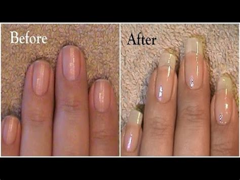 how to get longer nail beds going from short nails to long natural nails 3 month nail