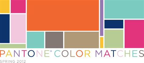 colors that match with orange pantone color matches 2012