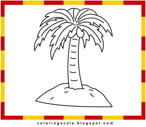 printable coloring pages palm tree free free palm tree coloring pages