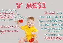 alimentazione 8 mesi i primi mesi di vita neonato il primo anno mese per mese