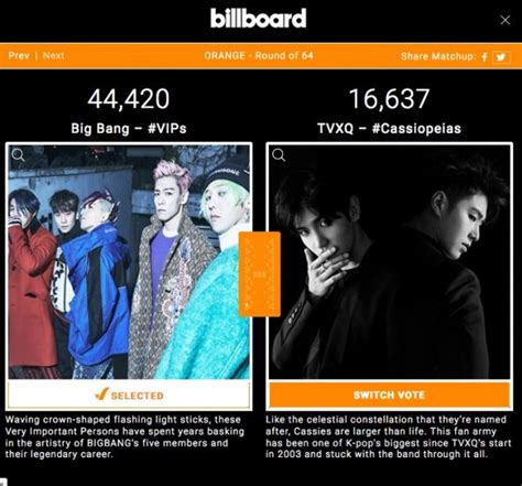 billboard fan army 2017 vote billboard un 2017 fan army face off 1 turu bigbang vip