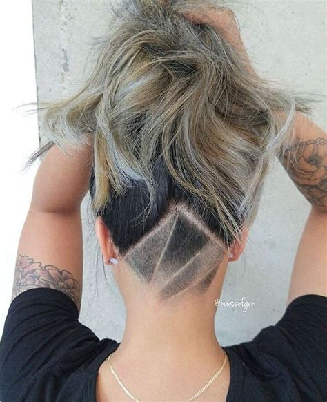 undercut pattern hair female undercut hairstyle designs