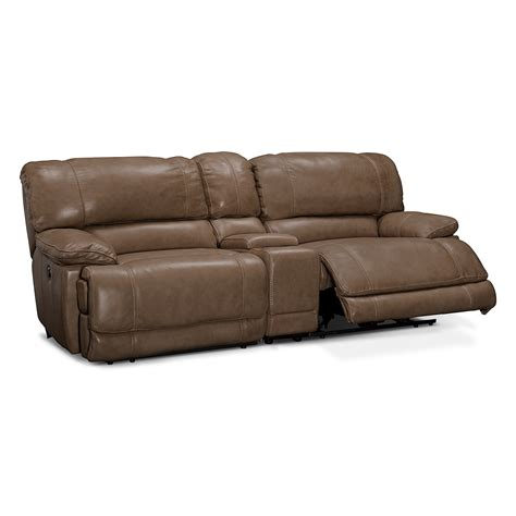 american signature furniture st malo ii leather 3 pc