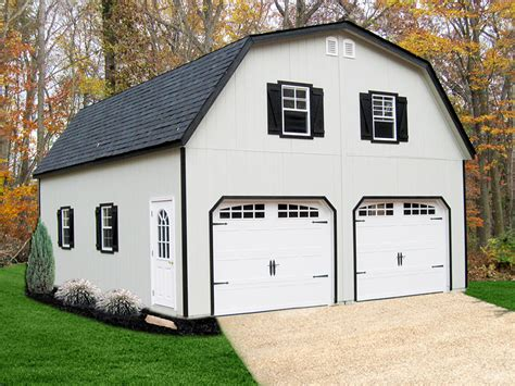 gambrel garages painted gambrel 2 story modular garage backyard escapes