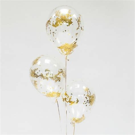 Confetti filled balloons gold amp silver confetti balloons pretty little party shop
