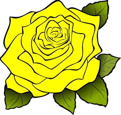 Clipart Yellow Roses yellow clip at clker vector clip