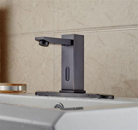 motion sensor faucet bathroom celilo touchless oil rubbed bronze bathroom sink faucet