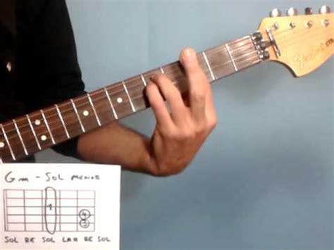 M Fa lecciones de guitarra c 243 mo tocar el acorde de sol menor