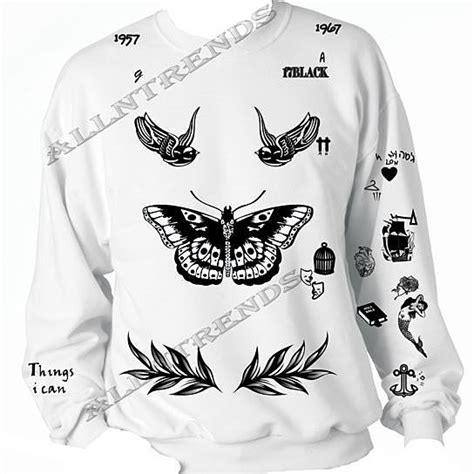 harry styles tattoo hoodie the newest updated version unisex crewneck sweatshirt