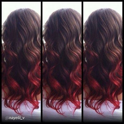 hair color on bottom brown with red bottom hair hair styles pinterest