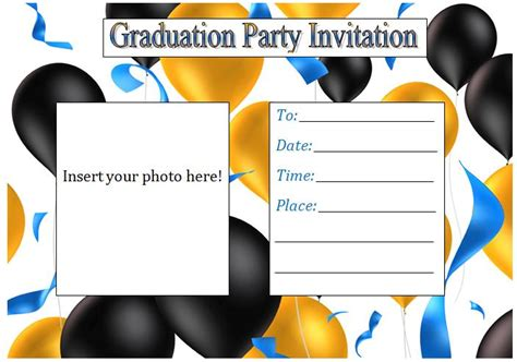 printable graduation party invitations template best