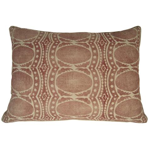 large bed pillow large drusus tabor hand block printed sofa or bed pillows