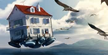 flying house by ilmarinenn on deviantart