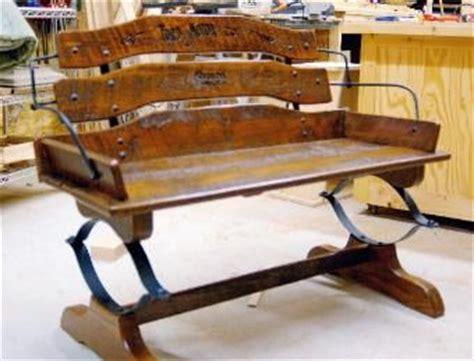 custom reclaimed barn wood buckboard buggy bench by yellow dog woodworking llc custommade com