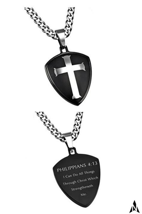 shield of strength philippians 4 13 necklace my