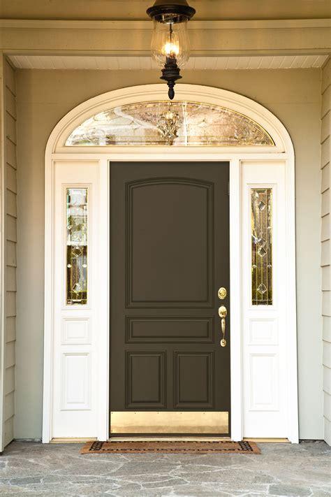 beautiful brown front door entrance serenity paint