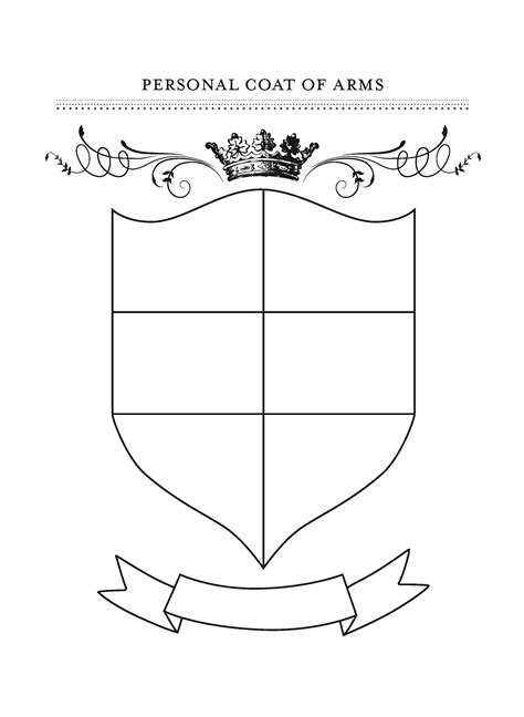 free hearldy shields for kids coloring pages