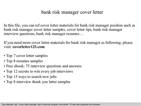 Letter Of Credit Bank Risk bank risk manager cover letter