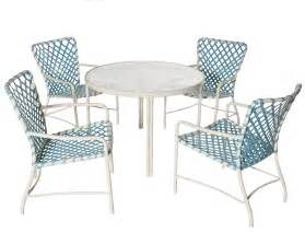 Patio Chair Strapping 1960s Iconic Outdoor Furniture Tubular Aluminum With Vinyl Strapping Patio Design