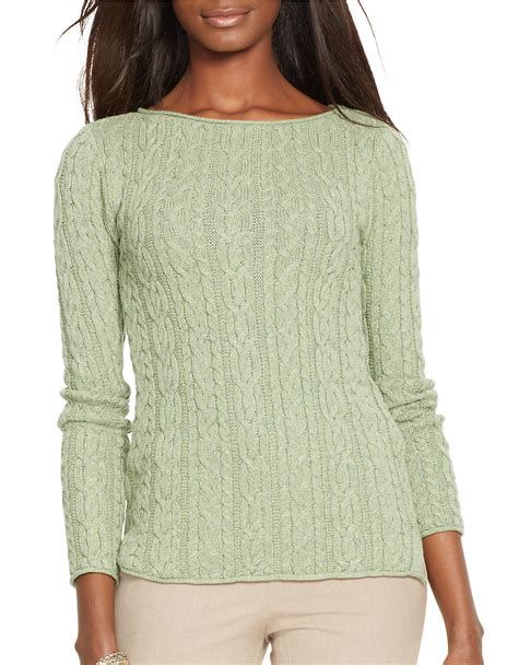 knit cotton sweater by ralph cable knit cotton sweater in