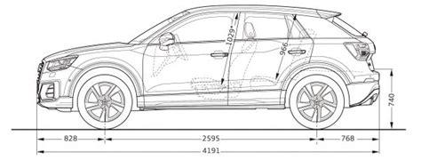 Audi Q2 Technische Daten by Audi Q2 Abmessungen Technische Daten L 228 Nge Breite