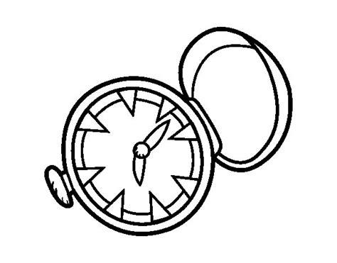imagenes para colorear reloj dibujo de reloj de bolsillo para colorear dibujos net